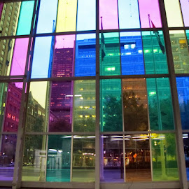 Wall of colored glasses  by João Ascenso - Buildings & Architecture Other Interior