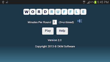 Screenshot of Word Ruffle