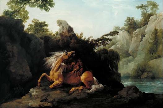 Stubbs George. Cavallo divorato da un leone