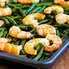 Roasted Green Beans or Broccoli with Shrimp