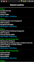 Screenshot of Military Campgrounds RV Parks