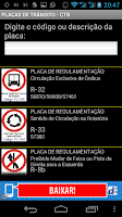 Screenshot of PLACAS DE TRÂNSITO