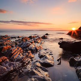 Southcoast Sunset by Graham Daly - Landscapes Sunsets & Sunrises ( water, canon 5d mark ii, ireland, seascapes, twilight, southcoast, garrettstown, sea, ocean, beach, coastal, coast, graham daly photography, county cork, 5d mark 2, lee filters, sunset, long exposure, landscapes, rocks, garylucas )