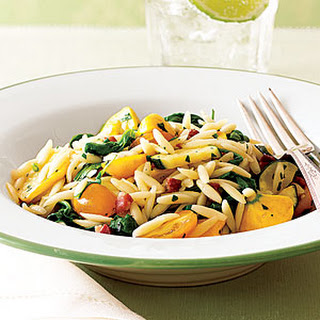Pasta with Pancetta and Fresh Vegetables