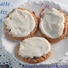 Spiced Chai Latte Cake Mix Cookies with Vanilla Cream Frosting