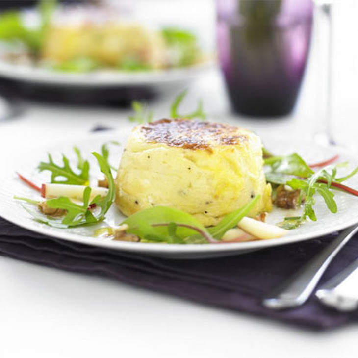 Twice-baked Goat's Cheese Soufflés With Apple & Walnut Salad Recipe ...