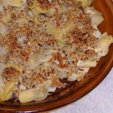 Baked Artichoke Side With Crumb Topping