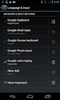 Screenshot of Neon Keyboard