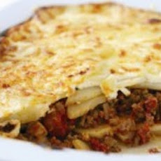 Moussaka with Ground Beef and Potatoes