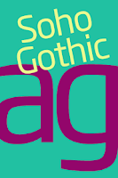 Screenshot of Soho Gothic FlipFont