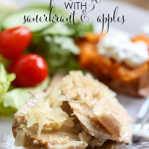 Crock Pot Pork Roast with Sauerkraut and Apples