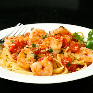 Shrimp Fra Diavolo with Linguine