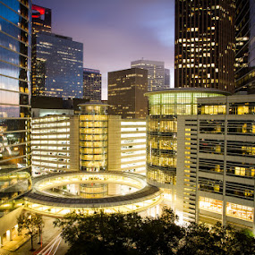1500 Lousiana by Habashy Photography - Buildings & Architecture Office Buildings & Hotels ( building, houston, night, light, downtown, chevron )