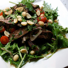 Spicy Thai Beef Salad with Mizuna