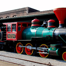 Chattanooga Choo Choo by Phil Grierson - Transportation Trains ( chattanooga, red, railroad, train, historical, black )