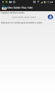 Screenshot of Meu Saldo Visa Vale