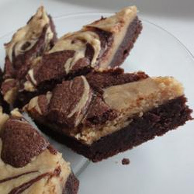 Michelle's Peanut Butter Marbled Brownies