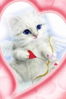 Screenshot of Blue Eyes Cat With Arrow Live