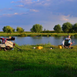 Fishing... by Adam Knauz - Sports & Fitness Other Sports ( hungary, outdoor, hobby, tisza, fishing )