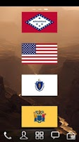 Screenshot of USA Flags Widget