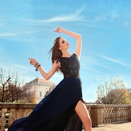 Skyline by Karmen Poznić - People Fashion ( fashion, sky, strong, dress, woman )