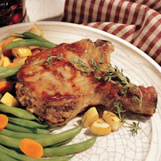 Peanut Butter and Apple Stuffed Pork Chops