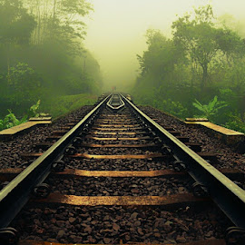 railway  by Tutun Gunstar - Transportation Railway Tracks ( #cirahong )