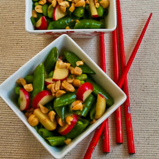 Asian Sugar Snap Pea Salad with Radishes and Edamame