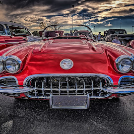 Red Corvette by Ron Meyers - Transportation Automobiles