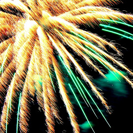 . by Brittany Ritchea - Abstract Fire & Fireworks