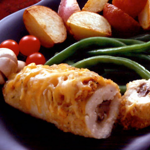 Cheese and Mushroom Stuffed Chicken Breasts