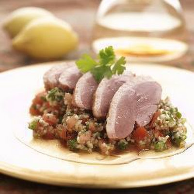 Herbed Tabouleh With Smoked Duck Breast