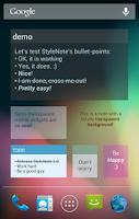Screenshot of StyleNote Pro