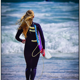 Lonely surfer by Wessel Badenhorst - Sports & Fitness Surfing (  )