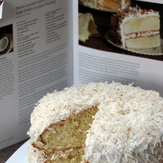 Fluffy Coconut Cake with Toasted Coconut Frosting