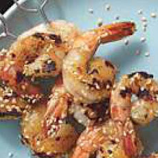 Grilled Wasabi-Honey Shrimp