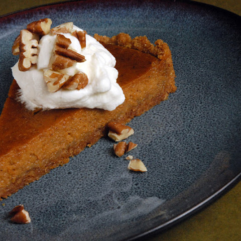 Spiced Pumpkin Tart with Orange-Graham Crust