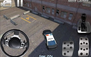 Screenshot of Police car parking 3D HD