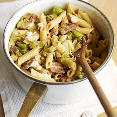 Cheesy Leek & Bacon Pasta