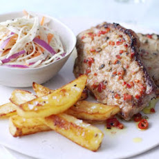 Piri Piri Pork With Mustard Coleslaw