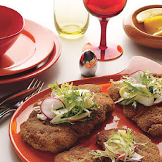 Chicken Schnitzel with Frisée-Apple Salad