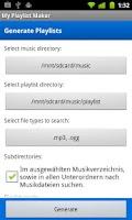 Screenshot of My Playlist Maker