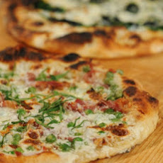 Ham and Peas Pizza
