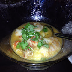 Crawfish and shrimp over grits!