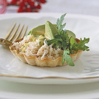 Crab, Avocado & Herby Hollandaise Tarts