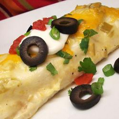 Chicken Enchiladas with Creamy Green Chile Sauce