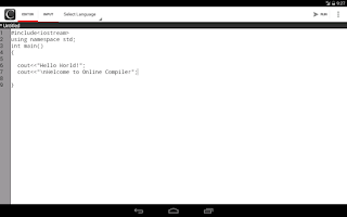 Screenshot of Online Compiler
