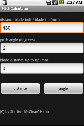 Pitch Calculator 2
