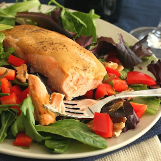 Maple-Glazed Salmon Salad – Low Carb, Gluten-Free and Heart Healthy!