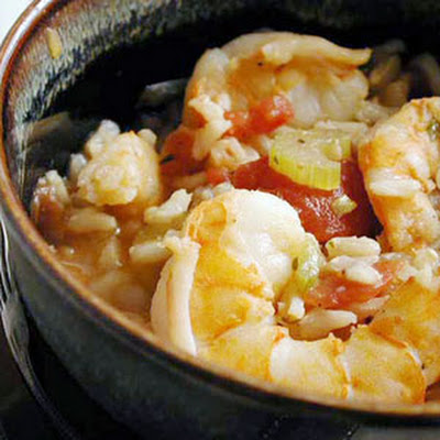 Brown Rice-Shrimp Jambalaya